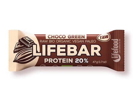 Lifebar Plus Chocolate Green Protein - 15x47g
