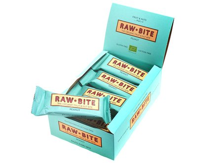 Raw Bite Peanut - Rohkost Riegel Box