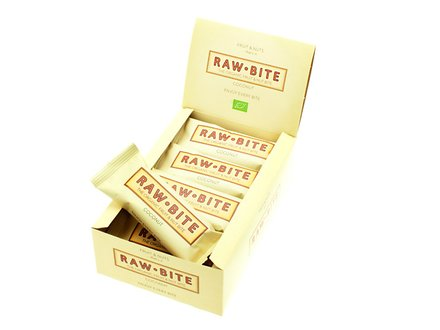 Raw Bite Kokosnuss - Rohkost Riegel Box