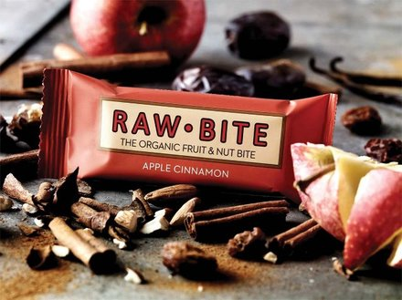 Raw Bite Apfel Zimt - Rohkost Riegel Box